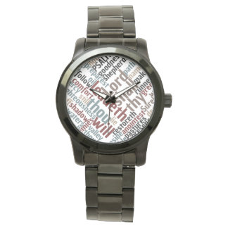Christian PSALM 23 Colorful Word Art Watch