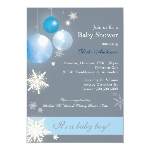Christmas Baby Boy Baby Shower Invitations Zazzle