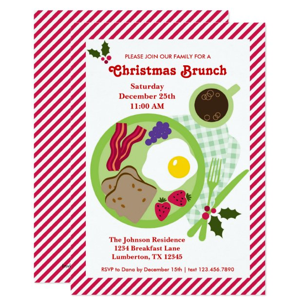 Christmas Brunch Invitation Zazzle