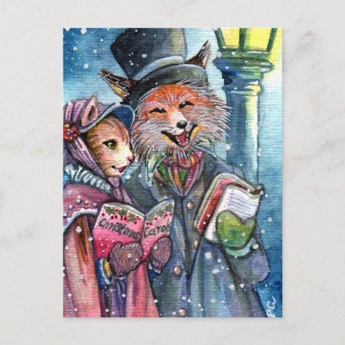 Christmas Carol Holiday Postcard