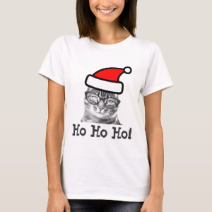 Christmas cat t shirt | Ho Ho Ho!