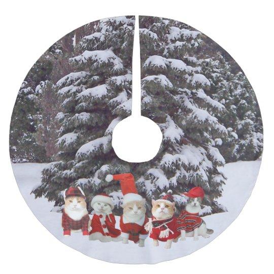 Christmas CatsKitties Tree Skirt