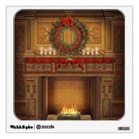 Christmas Fireplace Art & Framed Artwork | Zazzle