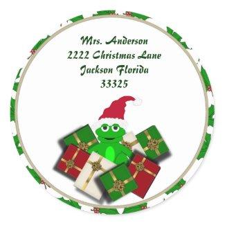 Christmas Frog Address Stickers