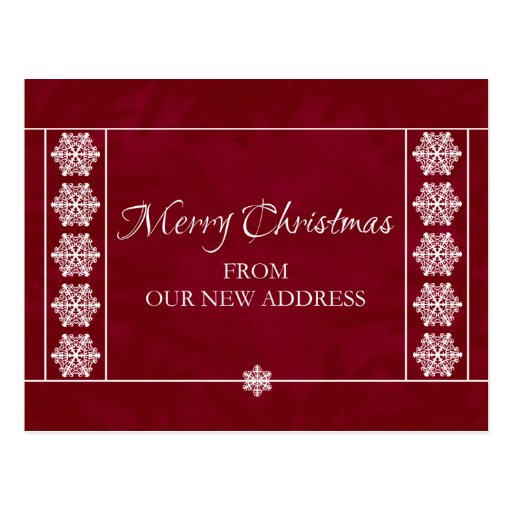 Christmas From Our New Address Postcard Zazzle