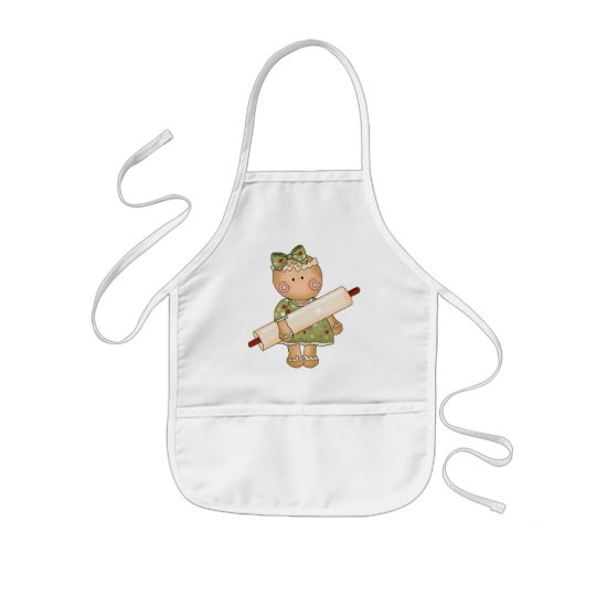 kitchen apron for kids eat in island christmas gingerbread holiday zazzle com