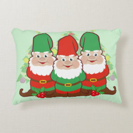 Christmas Gnomes Accent Pillow