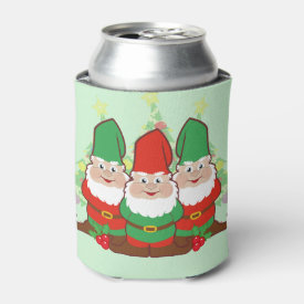 Holiday Gnomes Can Cooler