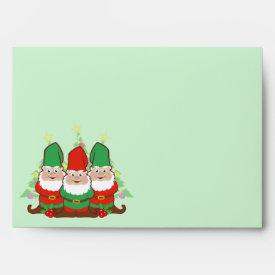 Christmas Gnomes Envelopes
