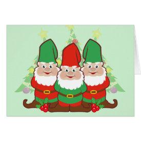 Christmas Gnomes Greeting Card