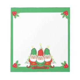 Christmas Gnomes Notepad