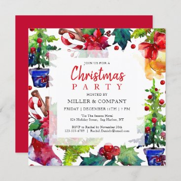 Christmas Holiday Modern Corporate Christmas Party Invitation
