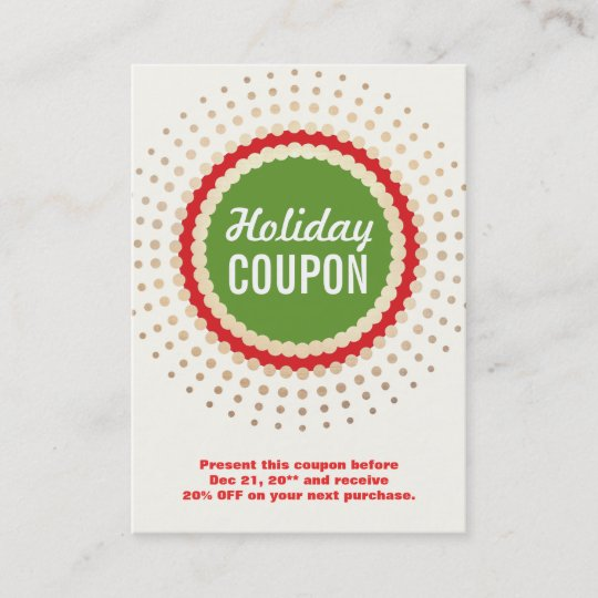 christmas holiday store coupon