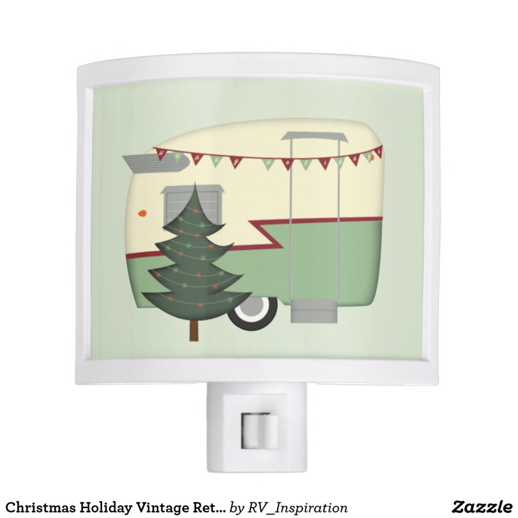 Christmas Holiday Vintage Retro Camper Night Light