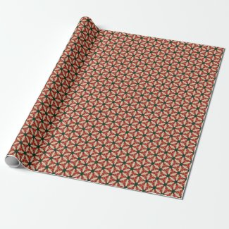 Christmas Kaleidoscope Wrapping Paper