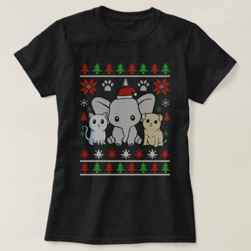 Christmas knit t-shirt