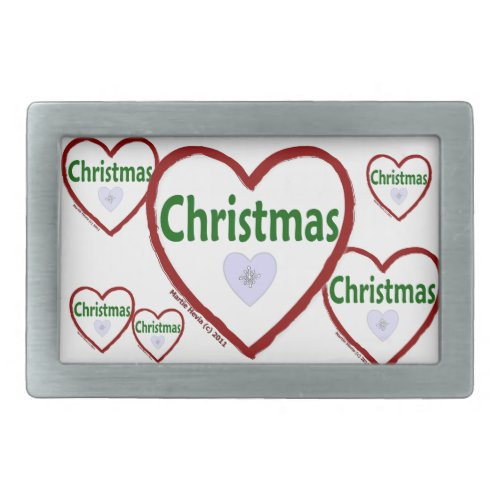 Christmas Love Belt Buckle