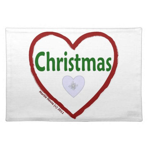 Christmas Love Placemat