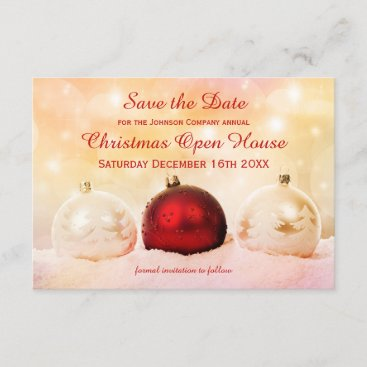 Christmas Open House Save the Date Card