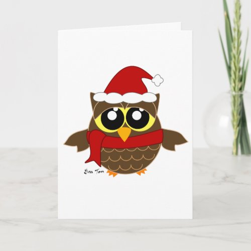 Christmas Owl Holiday Card