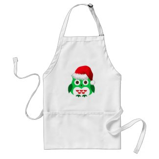 Christmas Owl Trend Apron