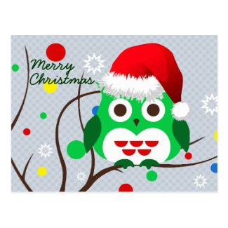 Christmas Owl Trend Post Card