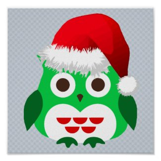 Christmas Owl Trend Posters