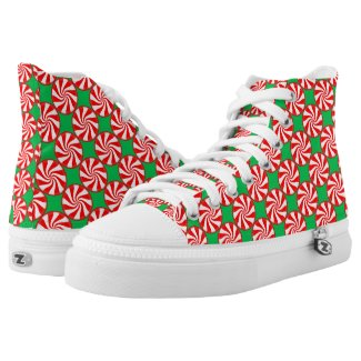Christmas Peppermints Printed Shoes