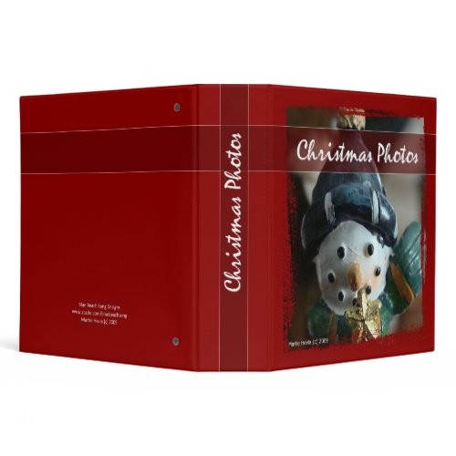 Christmas Photos - Snowman Binder binder