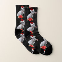 Christmas Pitbull dog socks