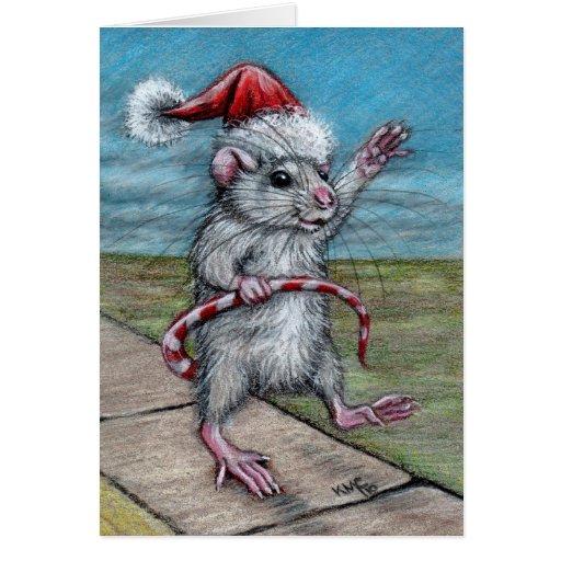 Christmas Rat Holiday Card Zazzle