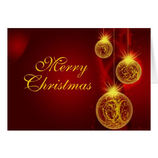 Christmas Red And Gold Merry Christmas Card Zazzle