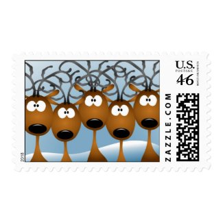 Christmas Reindeer stamp