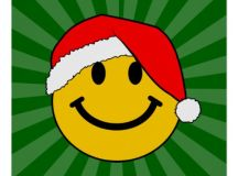 Christmas Santa Smiley Face Posters | Zazzle