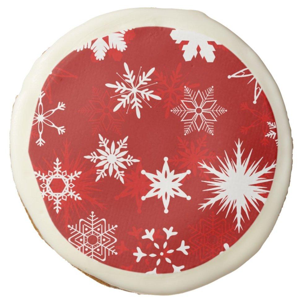 Christmas season snowflakes sugar cookie