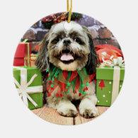 Christmas - Shih Tzu - Jake Christmas Tree Ornament