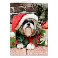 Christmas - Shih Tzu - Vince Greeting Cards