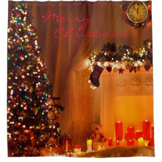 Christmas Shower Curtains Zazzle