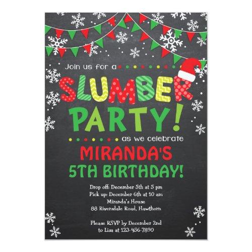 Christmas Slumber Party Invitation