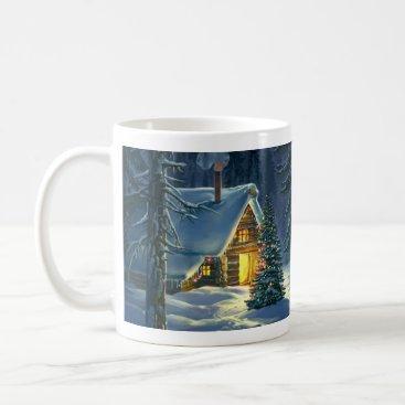 Christmas Snow Landscape Basic White Mug