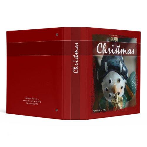 Christmas - Snowman Binder binder