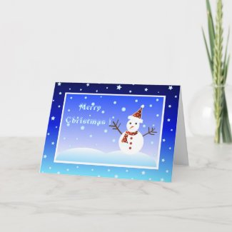 Christmas snowman - Card card