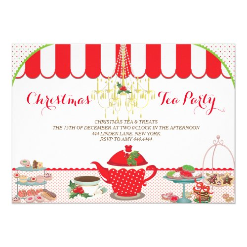 Christmas Tea Party Invitation