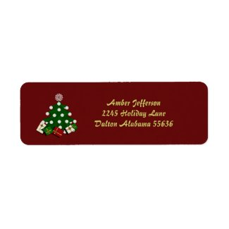 Christmas Tree Address Stickers Return Address Labels