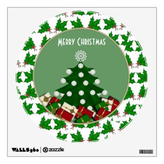 Christmas Tree: Merry Christmas Wall Decal