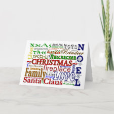 Christmas Word-Art - Customizable Card