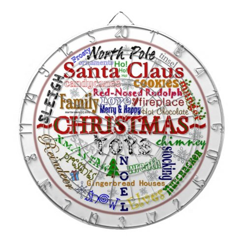 Christmas Word-Art - Dart Board
