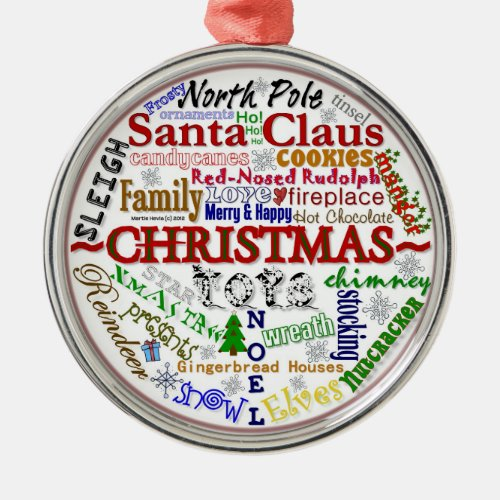 Christmas Word-Art - Ornament