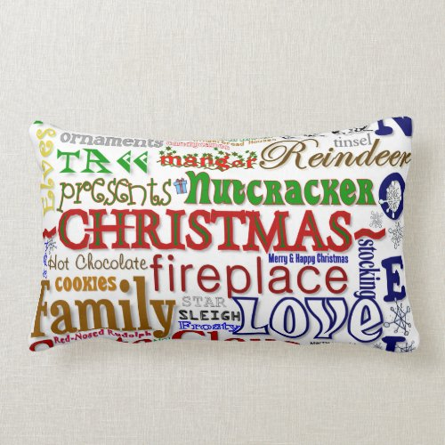Christmas Word-Art - Pillow