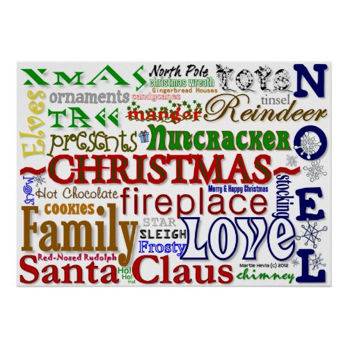 Christmas Word-Art Poster